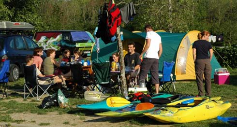 camping accueil kayakiste